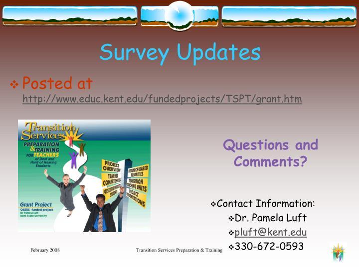Survey Updates