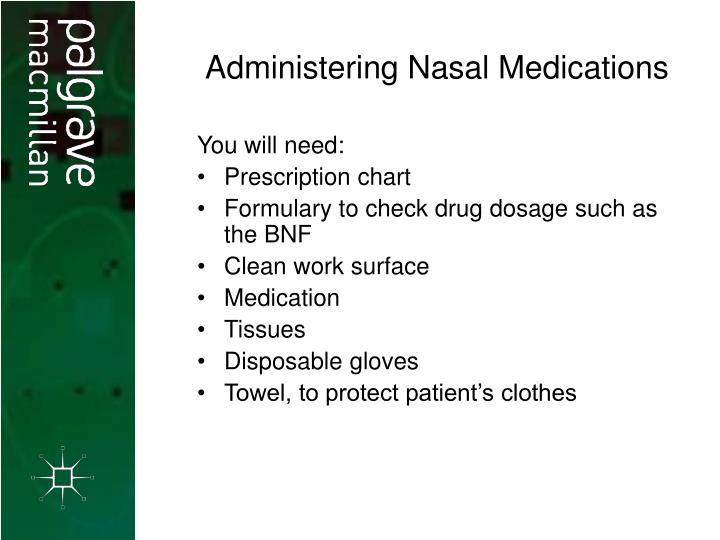 Administering Nasal Medications