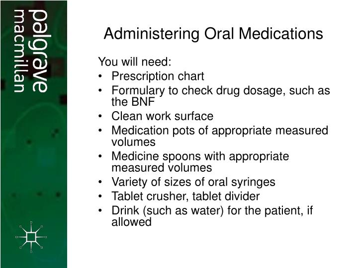 Administering Oral Medications