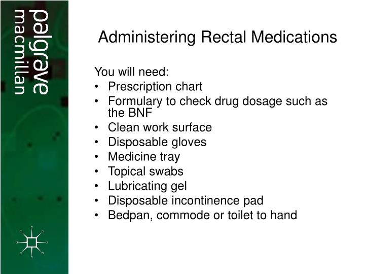Administering Rectal Medications