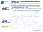 normas adicionales sobre clasificaci n de la informaci n