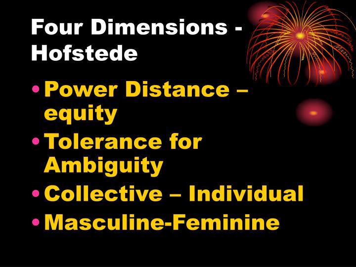 Four Dimensions - Hofstede