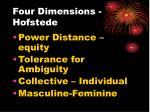 four dimensions hofstede