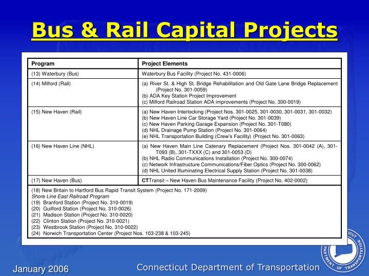 Bus & Rail Capital Projects