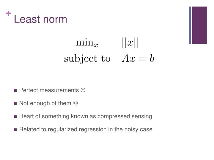 Least norm