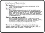 importance of boundaries