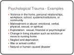 psychological trauma examples
