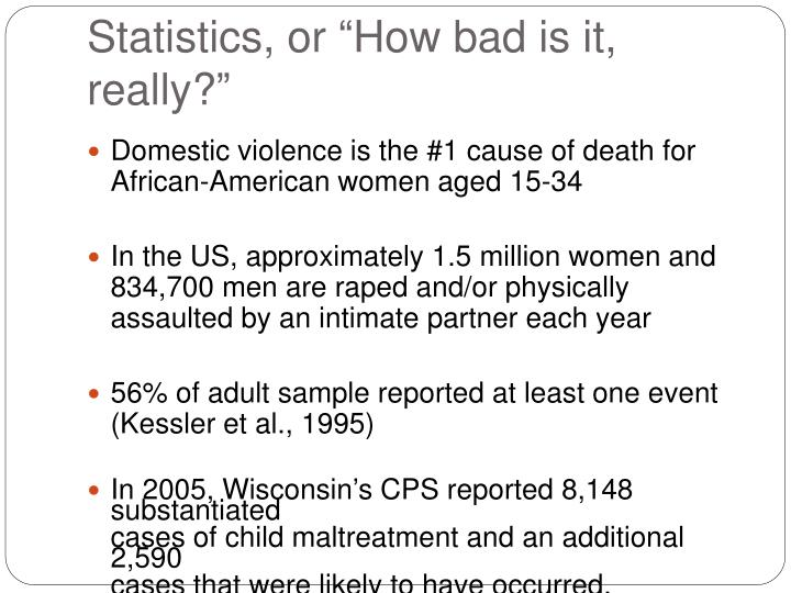 "Statistics, or ""How bad is it, really?"""