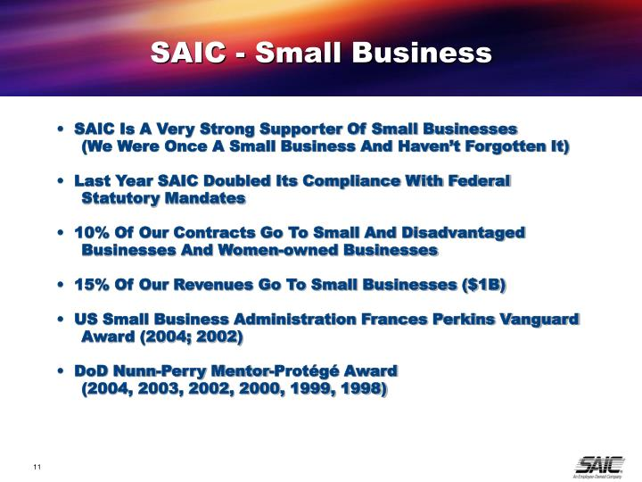 SAIC - Small Business