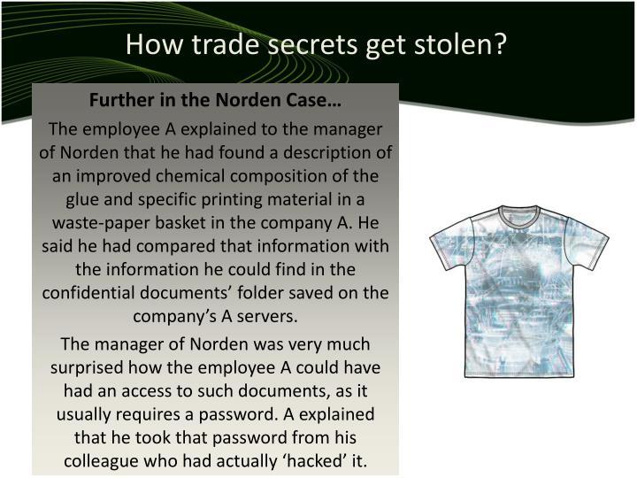 How trade secrets get stolen