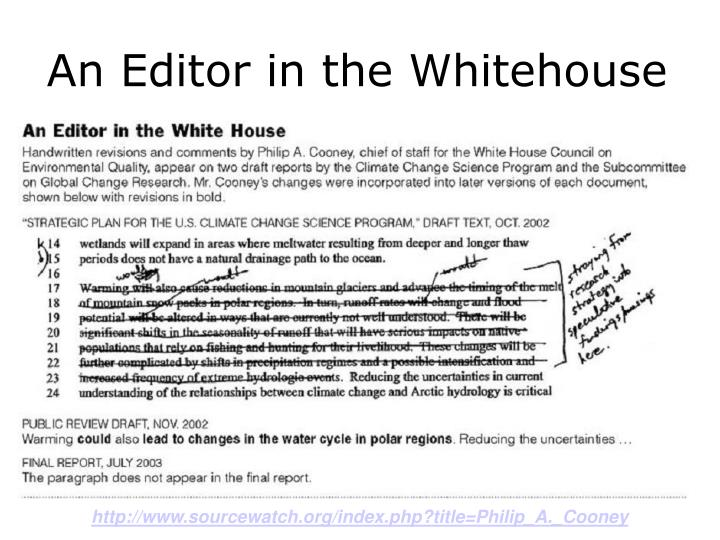 An Editor in the Whitehouse