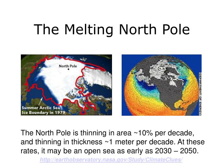 The Melting North Pole