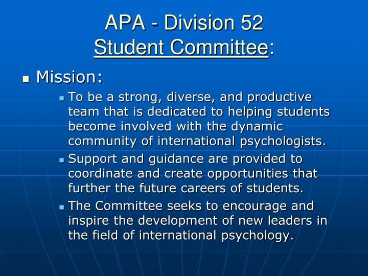 APA - Division 52