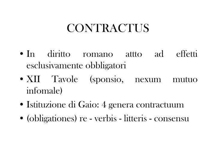 CONTRACTUS