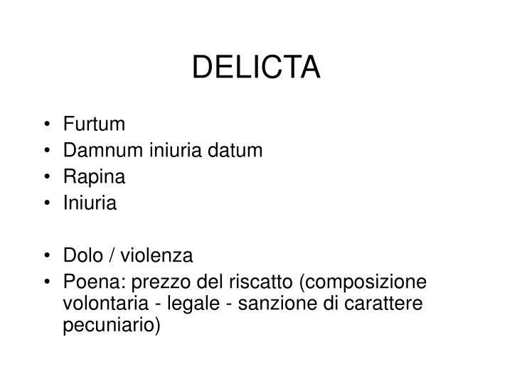 DELICTA