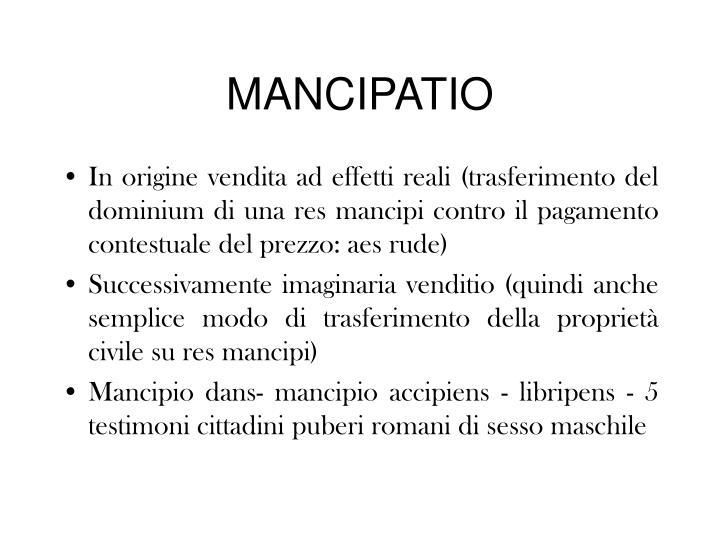 MANCIPATIO
