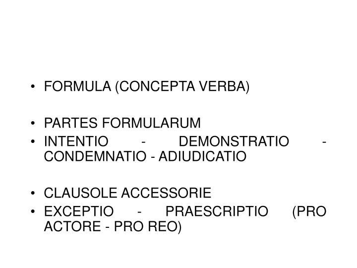 FORMULA (CONCEPTA VERBA)