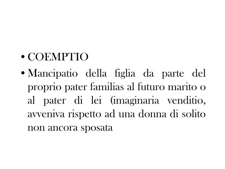 COEMPTIO