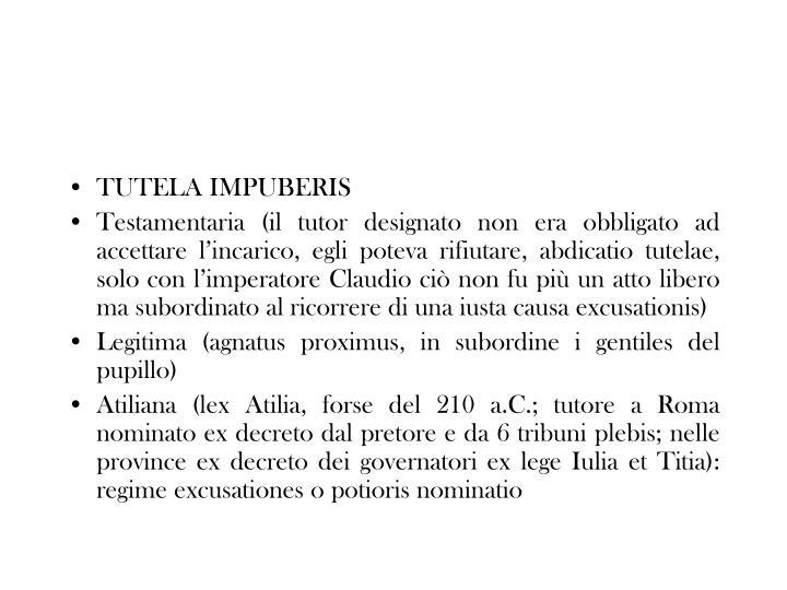 TUTELA IMPUBERIS