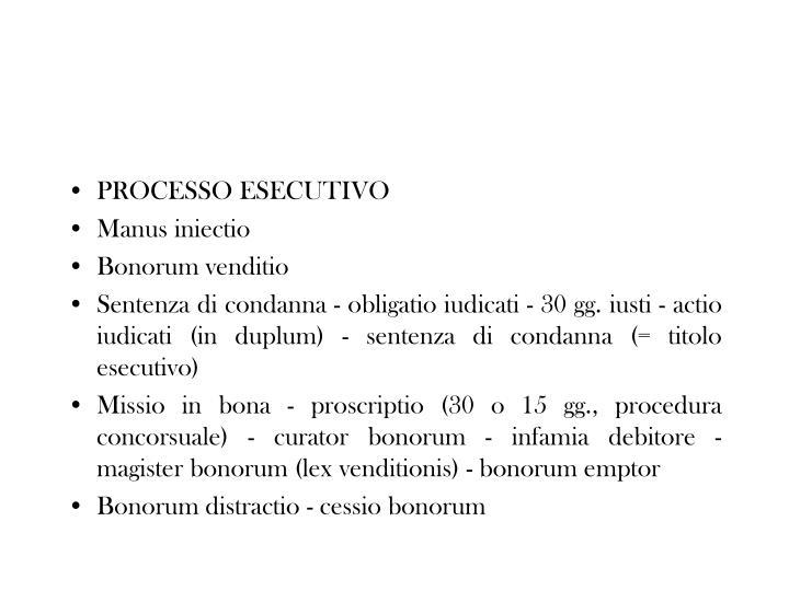 PROCESSO ESECUTIVO