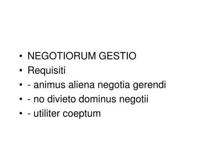 NEGOTIORUM GESTIO