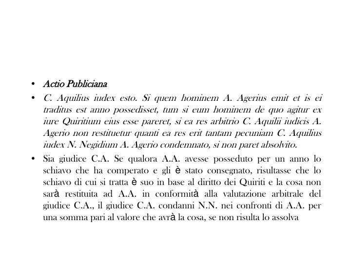 Actio Publiciana
