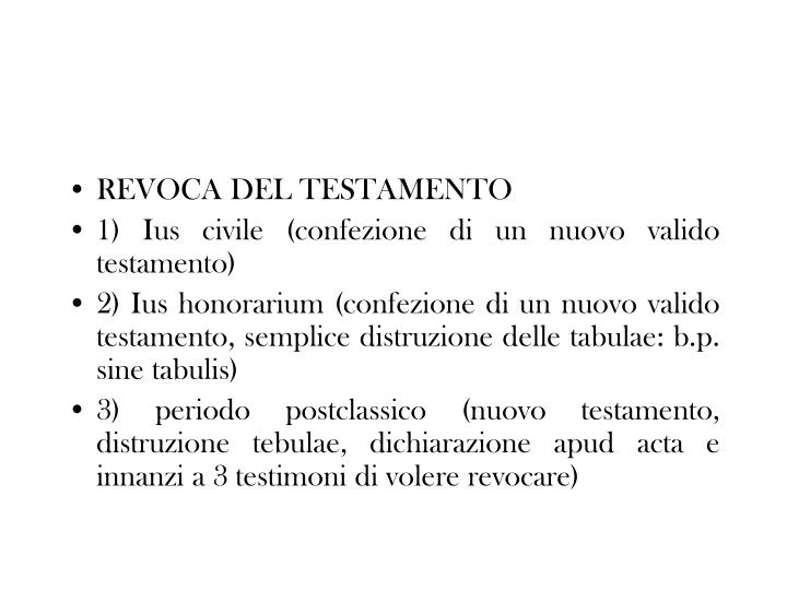 REVOCA DEL TESTAMENTO