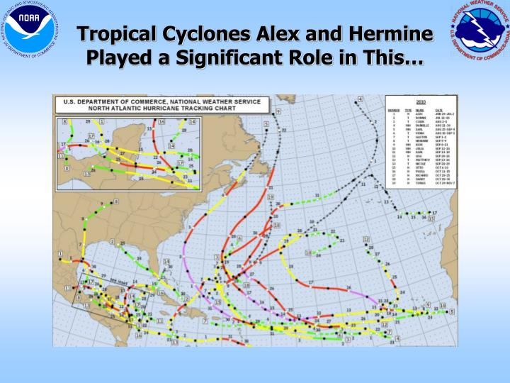 Tropical Cyclones Alex and