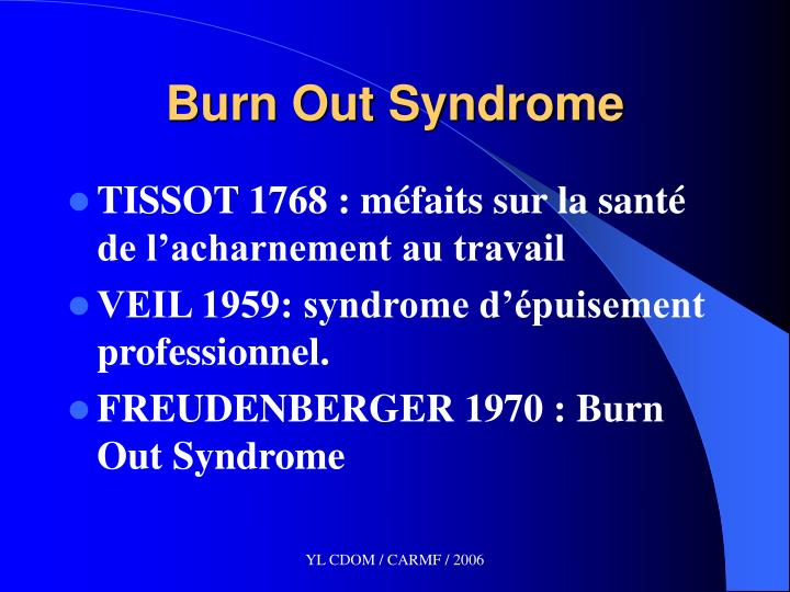 Burn out syndrome1