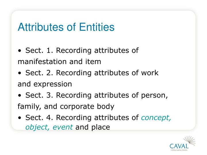 Attributes of Entities