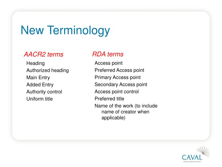 AACR2 terms