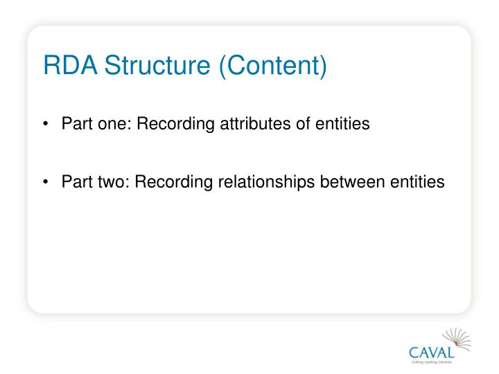 RDA Structure (Content)