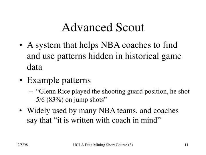 Advanced Scout