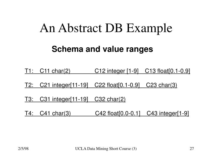 An Abstract DB Example
