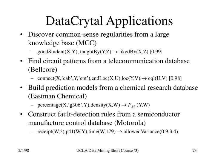 DataCrytal Applications