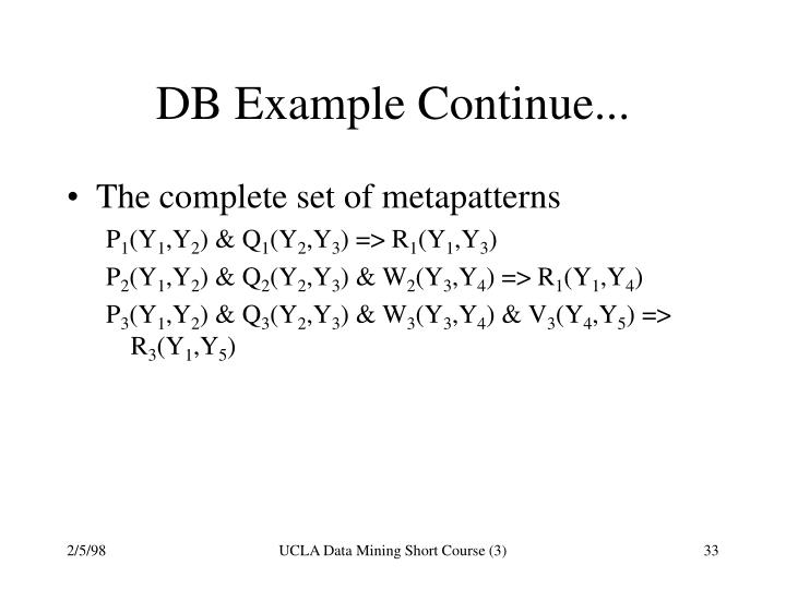 DB Example Continue...