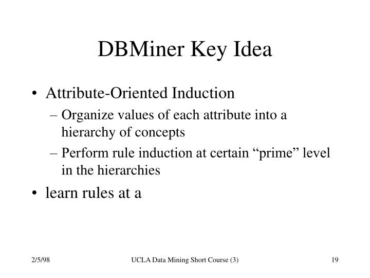 DBMiner Key Idea