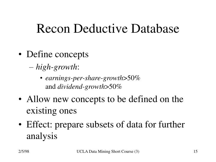 Recon Deductive Database