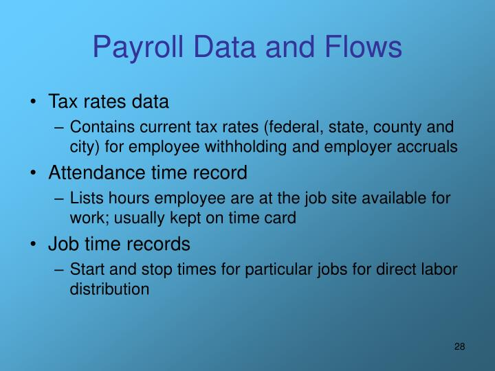 Payroll Data and Flows