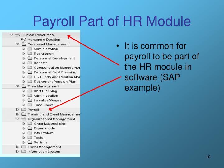 Payroll Part of HR Module