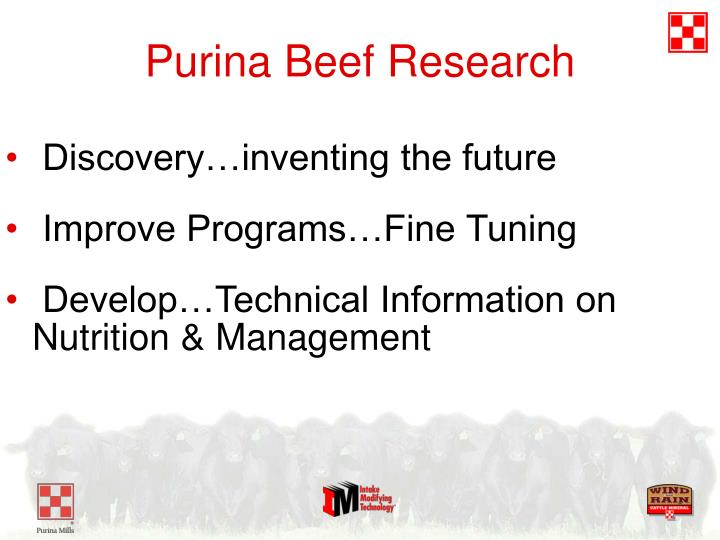 Purina Beef Research