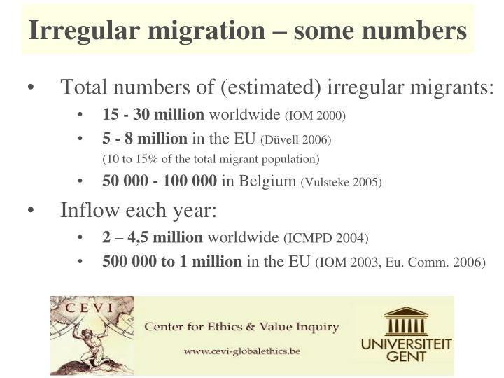 Irregular migration – some numbers
