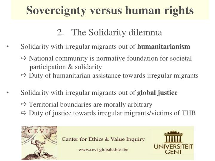 Sovereignty versus human rights