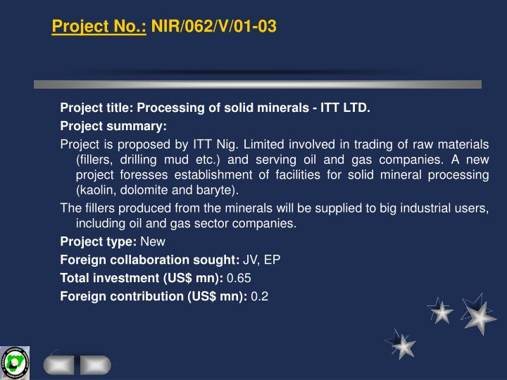 Project No.: