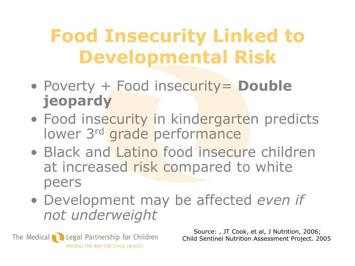 Food Insecurity Linked to Developmental Risk