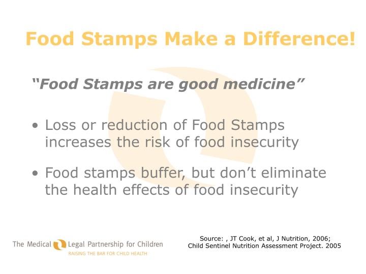 Food Stamps Make a Difference!