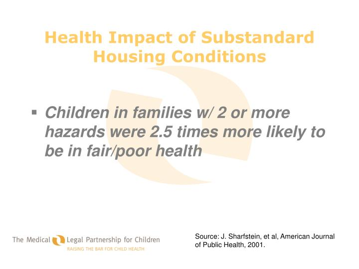 Health Impact of Substandard Housing Conditions