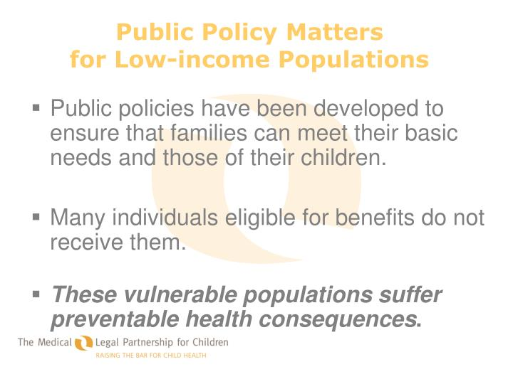 Public Policy Matters