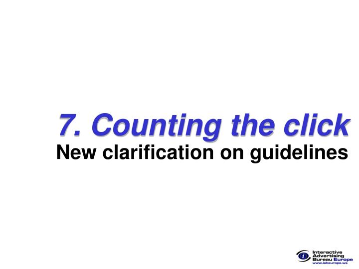 7. Counting the click