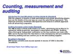 counting measurement and auditing